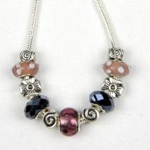 Twilight Treasure Charm Bead Necklace