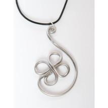 Unique Design #2 Aluminum Wire Pendant Necklace