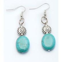 Silver Plated Earrings with Turquoise Stones