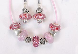 Sweetheart Pink Beaded Jewelry Set