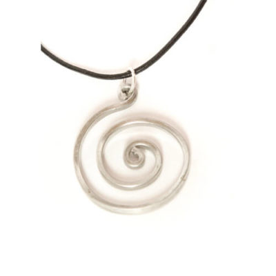"""""""On Target"""" Aluminum Wire Pendant Necklace"""