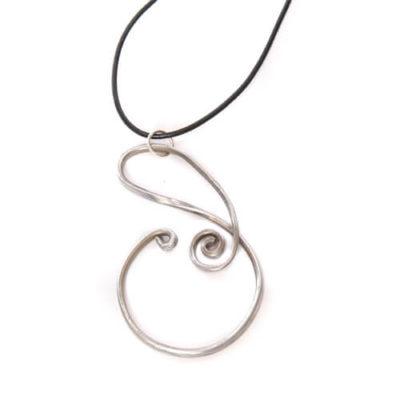 Unique Design #1 Aluminum Wire Pendant Necklace
