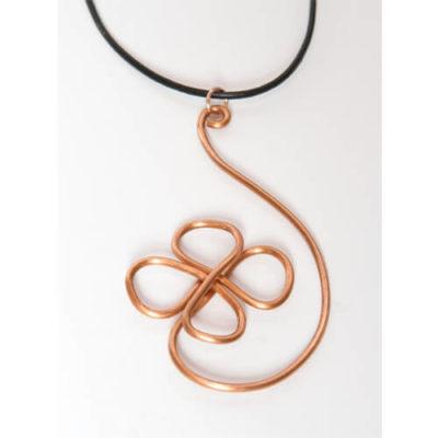 Unique Design #2 Copper Wire Pendant Necklace