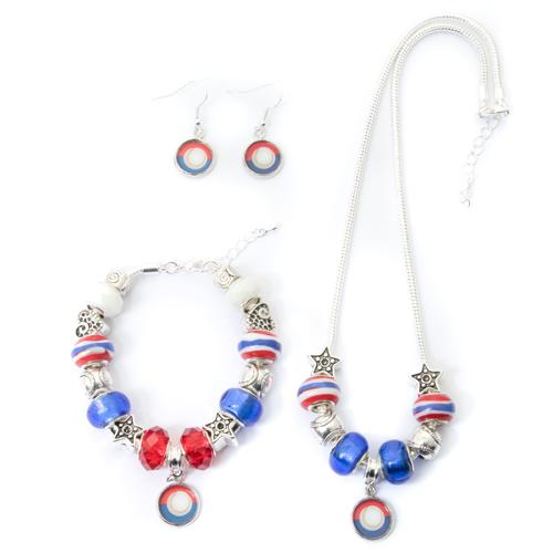 Chicago Cubs Necklace Bracelet