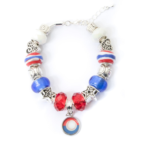 Chicago Cubs Bracelet With Dangling Pendant