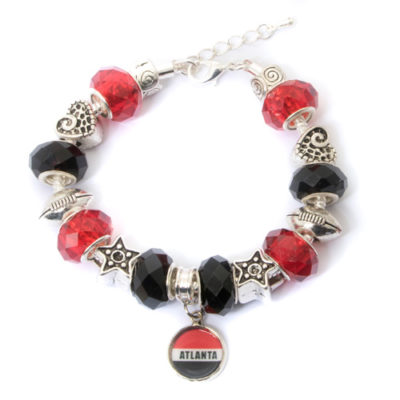 Atlanta-Falcons-Bracelet-with-Dangling-Atlanta-Pendant