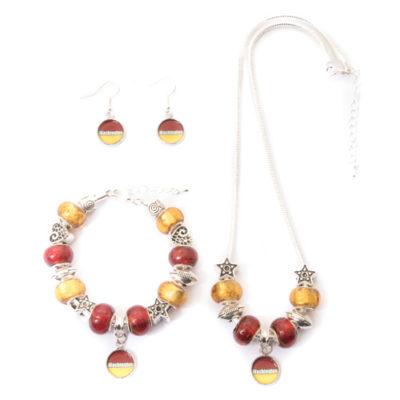 Washington-Redskins-3-Piece-Jewelry-Set---Necklace,-Bracelet,-Earrings