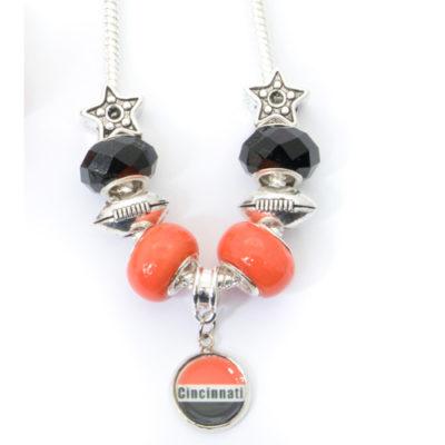 Cincinnati Bengals Necklace with Dangling Pendant