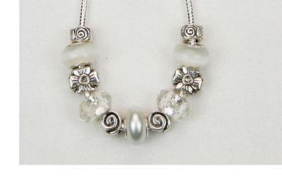 white caps necklace